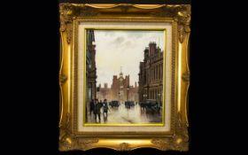 Steven Scholes 1952 - British Artist - Title ' St. James Street ' London. Date 1928 & No 501056.