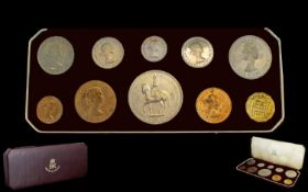 Elizabeth II 1953 Coronation Proof Coin Set ( 10 ) Coins Struck at Proof Quality. In Original