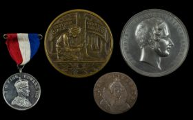 Collection of Antique Period Bronze Medallions form the late 19thC to Early 20thC plus 1794