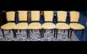 Six Victorian Dining Chairs Mahogany chairs of typical form,