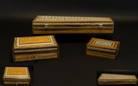 Indian Carved and Inlaid Lidded Box with Carved Images of The Taj Mahal to Cover, Surrounded by
