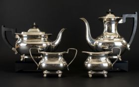 Viners Cutlery Company Top Quality Alpha / Silver Plated Four Piece Coffee and Tea Services of