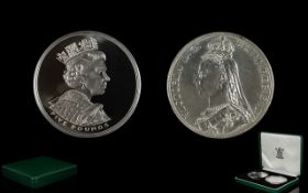 Royal Mint United Kingdom Ltd And Numbered Edition Golden Jubilee Silver Crown Set. This set is No.