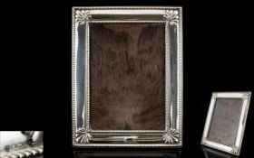 Large - Nice Quality Contemporary Silver Photo Frame Decorated with Shell Motifs to Corners and