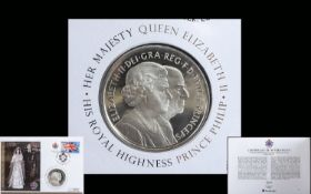 Royal Mint - The Diamond Wedding Anniversary Silver Coin Commemorative Cover - Ltd Edition of Only