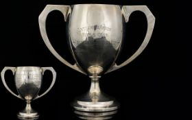 Early 1920s Twin Handle Silver Trophy Cup.