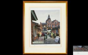 Tom Dodson 1910 - 1991 Ltd and Numbered Edition Colour Print / Lithograph. Titled ' The Market Day '