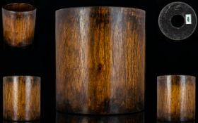 Chinese Large and Beautifully Grained 17th Century Ming Dynasty Huanghuali Brush pot. c.