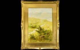 Leopold Rivers RBA, (British 1852-1905) Original Watercolour On Paper Depicting a lakeland valley
