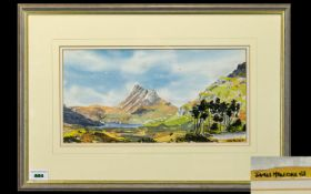 James Hawkins 1954 ' Scottish Loch / Glen ' Watercolour, Signed and Dated 83,