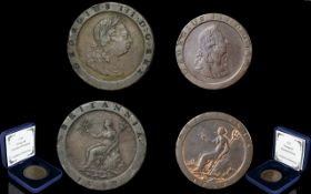 Set of two cartwheel coins from 1797 as issued by The Westminster Collection for £295.
