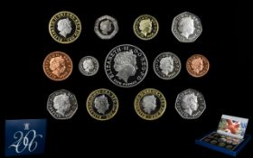 Royal Mint United Kingdom Proof Coin Set For 2006.