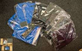 Three Boxes Of Assorted Polo Shirts to contain 12 blue poplin shirts,