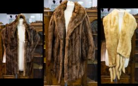 Blonde Vintage Mink Stole, fully lined. Complete with pelts.