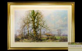 David Shepherd (British 1931 - 2017) Artist Signed Print Framed and mounted under glass,