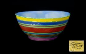 Clarice Cliff Handpainted Footed Bowl 'L