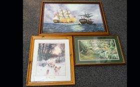 A Collection Of Watercolours Oils And Pr