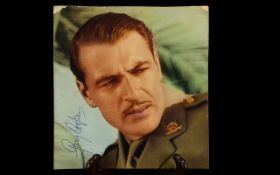 Gary Cooper Autograph presented on vinta
