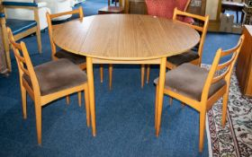 A 1970s Shreiber Dining Table and Four C