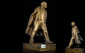Early 20thC Russian Bronze Sculpture Dep