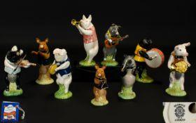 Beswick Hand Painted Ceramic Pig Band (C