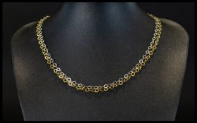 9ct Contemporary Two Tone Gold Necklace