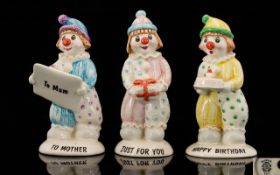 Beswick Hand Painted Clown Figures ( 3 )