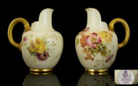 Royal Worcester Blush Ivory Pair of Smal