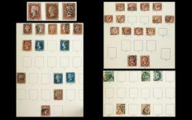 Green Windsor stamp album with fair smat