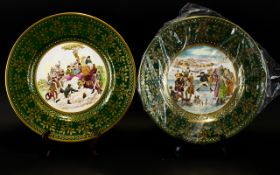 Caverswall Christmas Plates two plates d