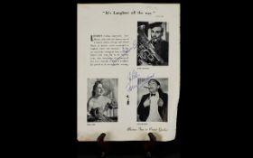 Tony Hancock & Jimmy Edwards Autographs
