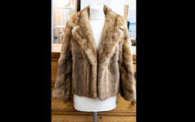 Vintage Medium Brown Mink Short Jacket.
