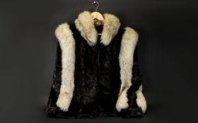 A Bespoke Vintage Arctic Fox Jacket Wond