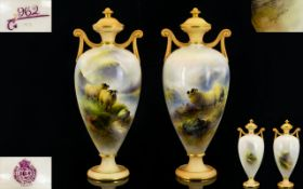 Royal Worcester Harry Davies Superb Qual