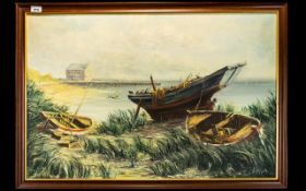A Allan, Oil On Canvas, Coastal Landscap