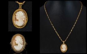 Ladies - Matching Set of a 9ct Gold Came
