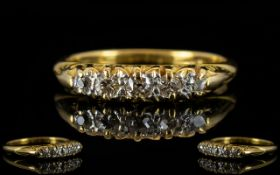 Antique Period 18ct Gold Five Stone Diamond Set Ring gallery setting attractive ring,