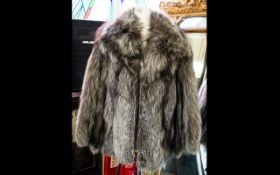 Fox Fur Ladies Jacket label to interior reads 'Furs by Stephen', fully lined in polysatin,