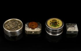 A Fine Collection of Small Silver Lidded Boxes all fully hallmarked for Sterling silver.
