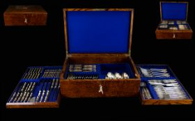 William Hutton & Son Superb Quality 1920/30s 115 Piece Canteen of Cutlery with silver plated