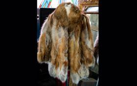 Fox Fur Ladies Three Quarter Length Jacket label to interior reads 'Furs by Stephen',