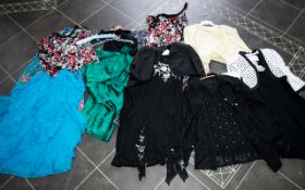 A Large Collection Of Vintage Dresses Evening And Cruisewear A varied lot to include navy and white
