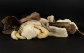 A Collection Of Vintage Fur Stoles And Accessories Seven Items in total to include two full pelt