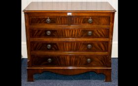 Late 20th Century Mahogany Chest of Drawers.