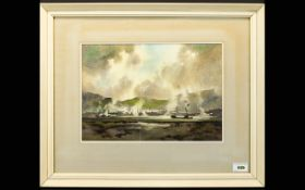 Edward John William Prior (Lake District artist) Watercolour, Industrial landscape Cumbria,