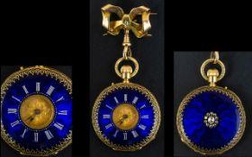 Victorian Period 18ct Superb Quality - Impressive Ladies Demi-Hunter Pocket Watch, Marked 18ct.