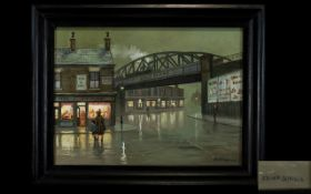 Steven Scholes Born 1952 - Title ' The Fish and Chip Shop 1952 ' Artist No 88142 to Reverse - Oil