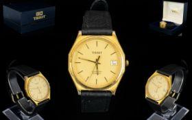 Tissot - Seastar Quartz Man's Gold Plated Wrist Watch.