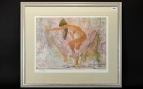 Signed Thornton Utz Limited Edition Print 'Morning Melody'. Framed and behind glass.
