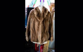 A Vintage Mink Jacket Ladies short evening jacket with revere collar and bracelet sleeves,